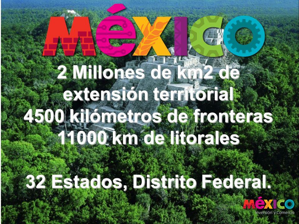 2 Millones de km2 de extensión territorial