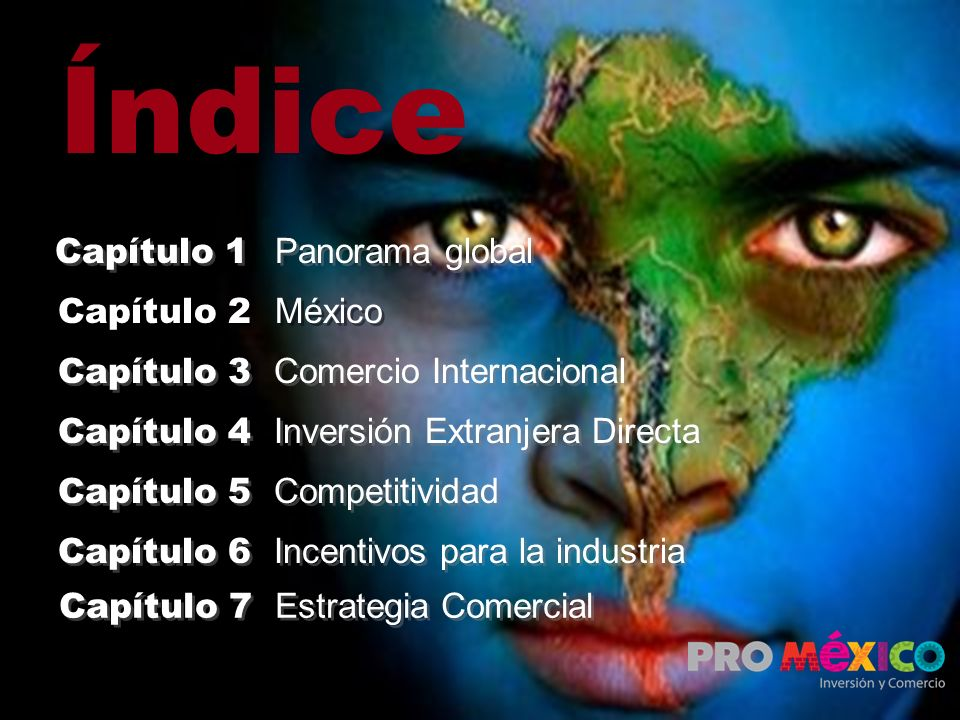 Índice Capítulo 1 Panorama global Capítulo 2 México