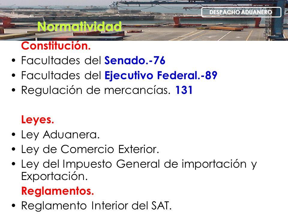 Normatividad Constitución. Facultades del Senado.-76