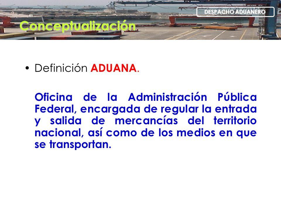 Conceptualización Definición ADUANA.