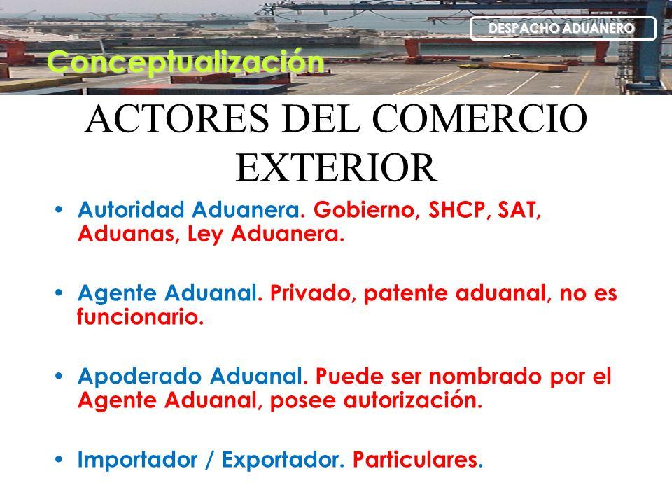 ACTORES DEL COMERCIO EXTERIOR