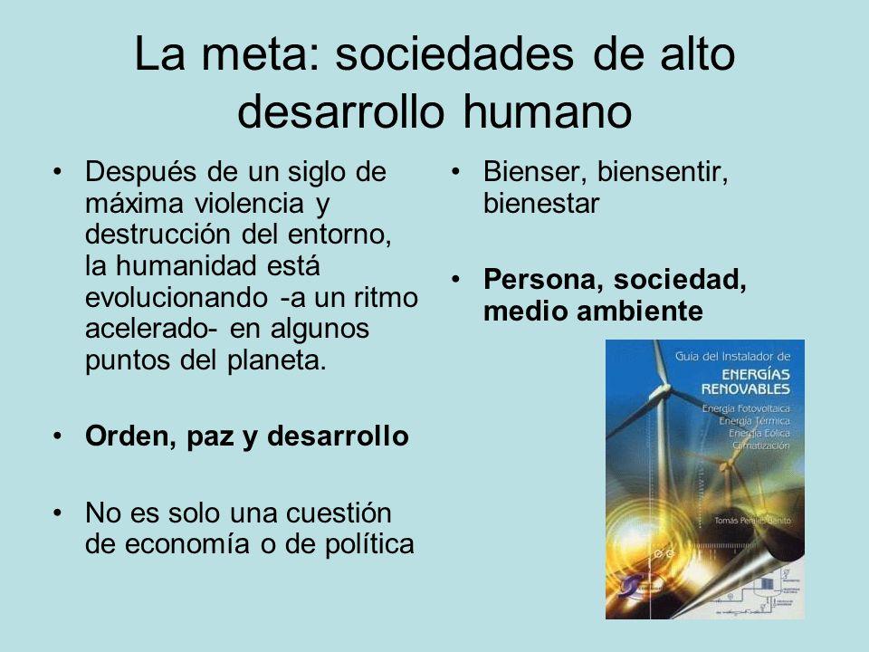 La meta: sociedades de alto desarrollo humano