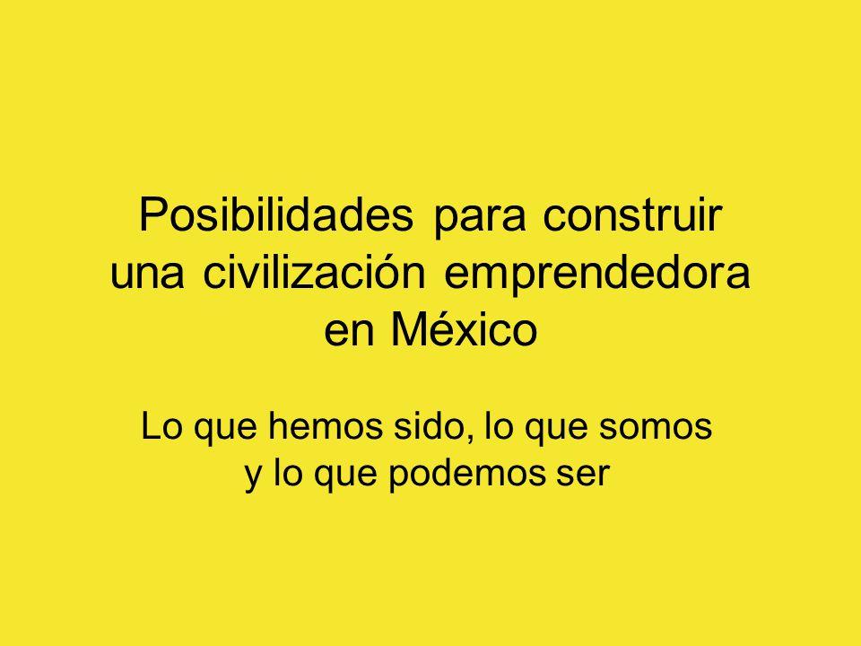 Posibilidades para construir una civilización emprendedora en México