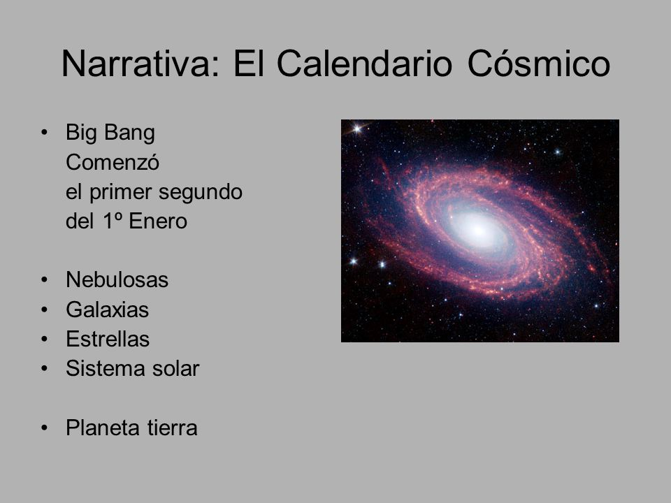Narrativa: El Calendario Cósmico
