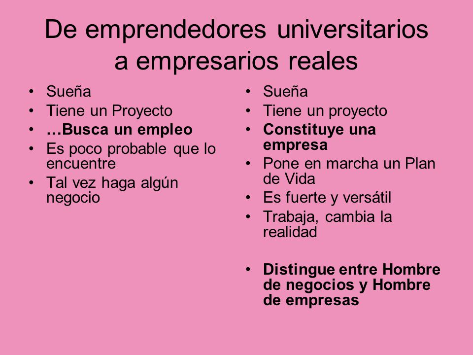 De emprendedores universitarios a empresarios reales