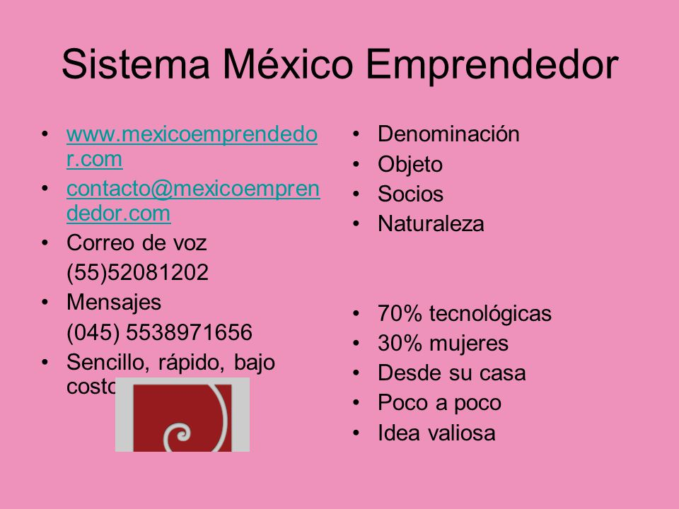 Sistema México Emprendedor