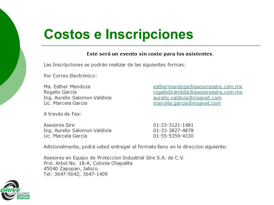 Costos e Inscripciones