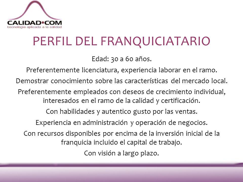 PERFIL DEL FRANQUICIATARIO