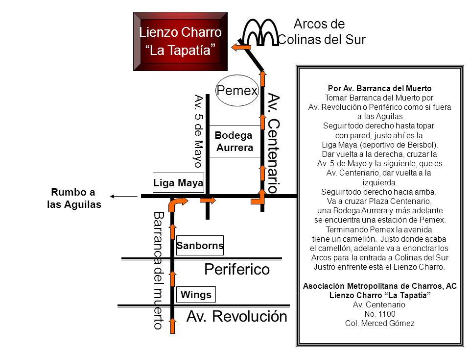 Av. Centenario Periferico Av. Revolución Arcos de Lienzo Charro