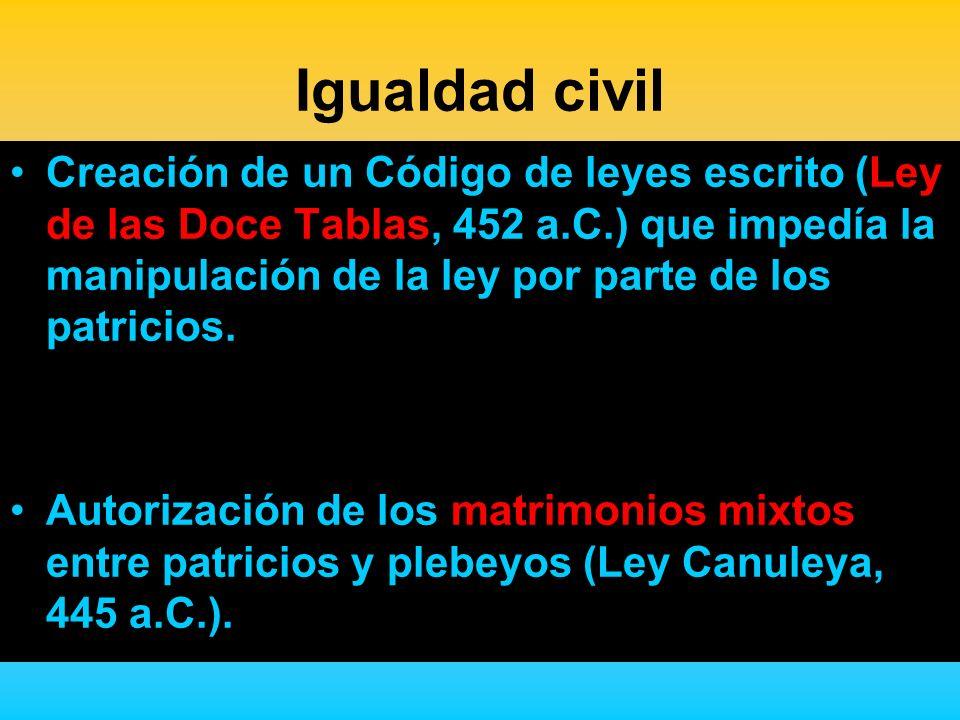 Igualdad civil