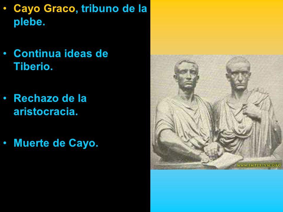 Cayo Graco, tribuno de la plebe.