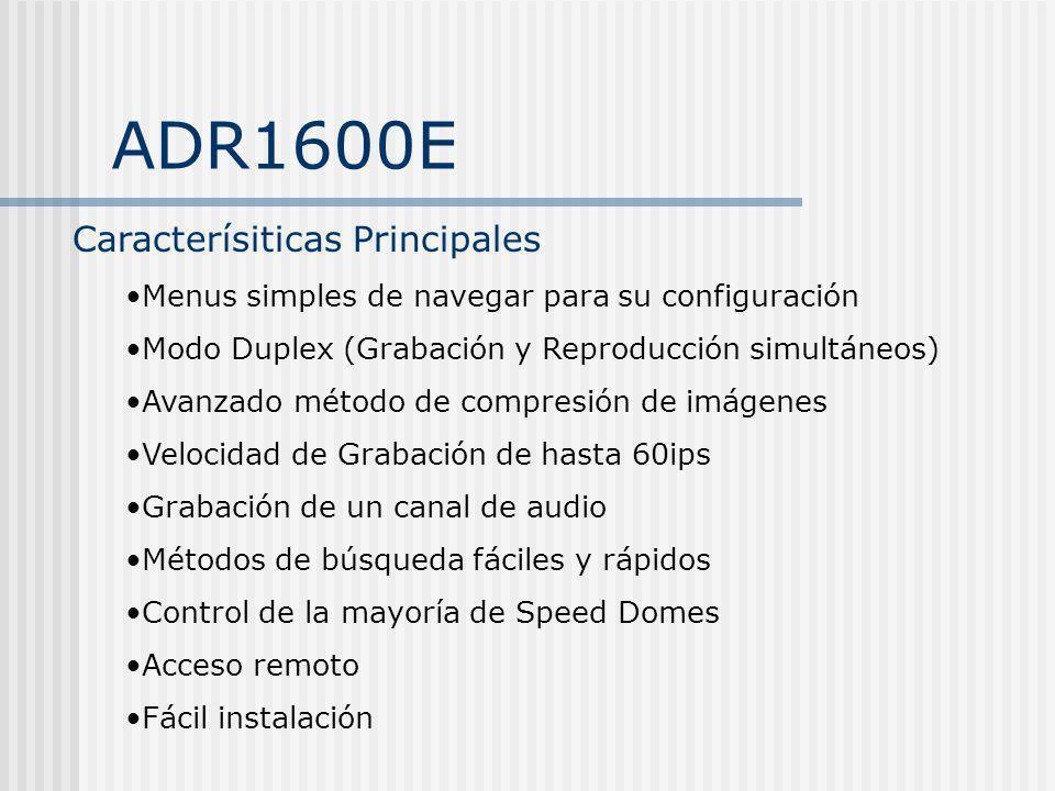 ADR1600E Caracterísiticas Principales
