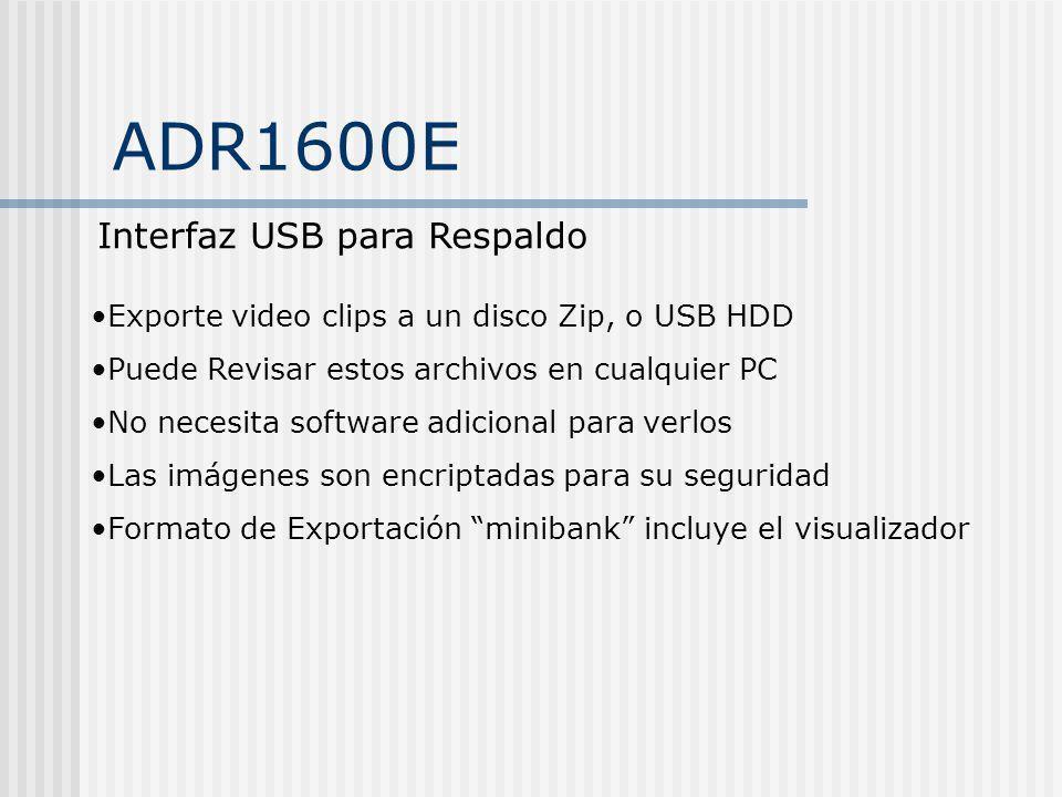 ADR1600E Interfaz USB para Respaldo
