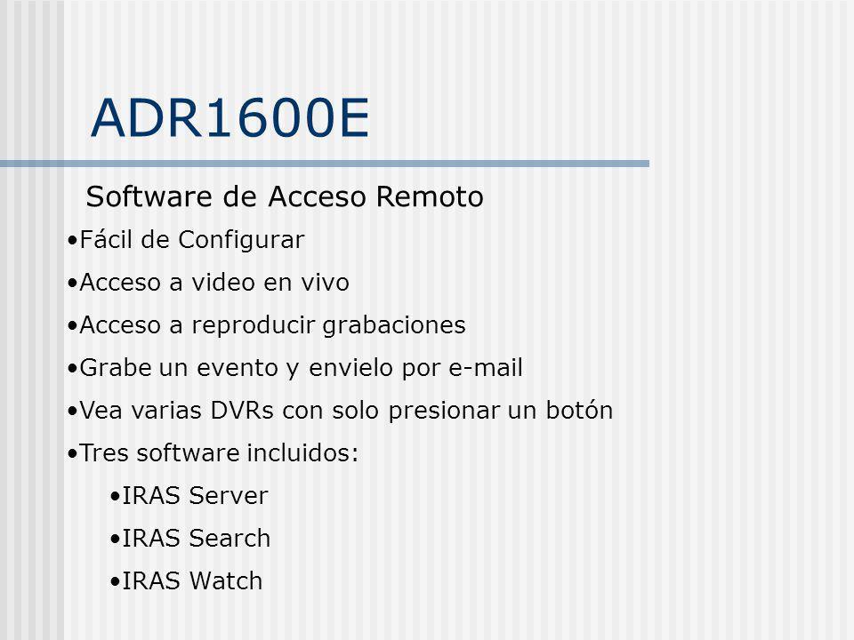 ADR1600E Software de Acceso Remoto Fácil de Configurar