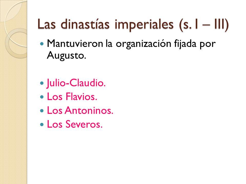 Las dinastías imperiales (s. I – III)