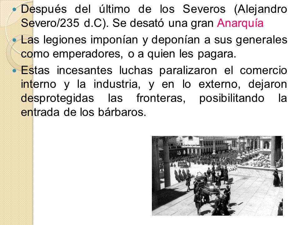 Después del último de los Severos (Alejandro Severo/235 d. C)