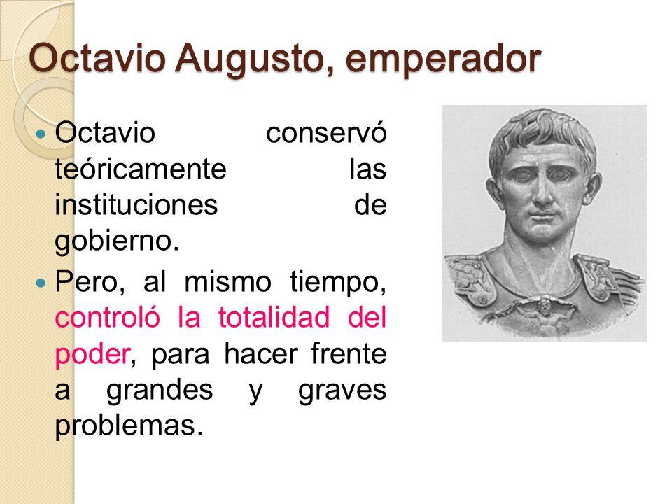 Octavio Augusto, emperador