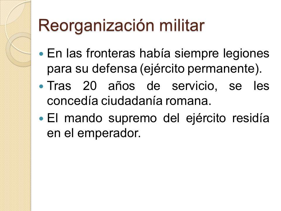 Reorganización militar