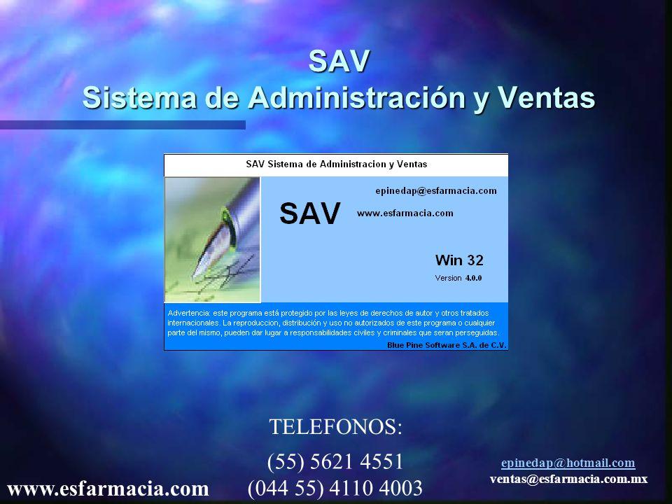 SAV Sistema de Administración y Ventas