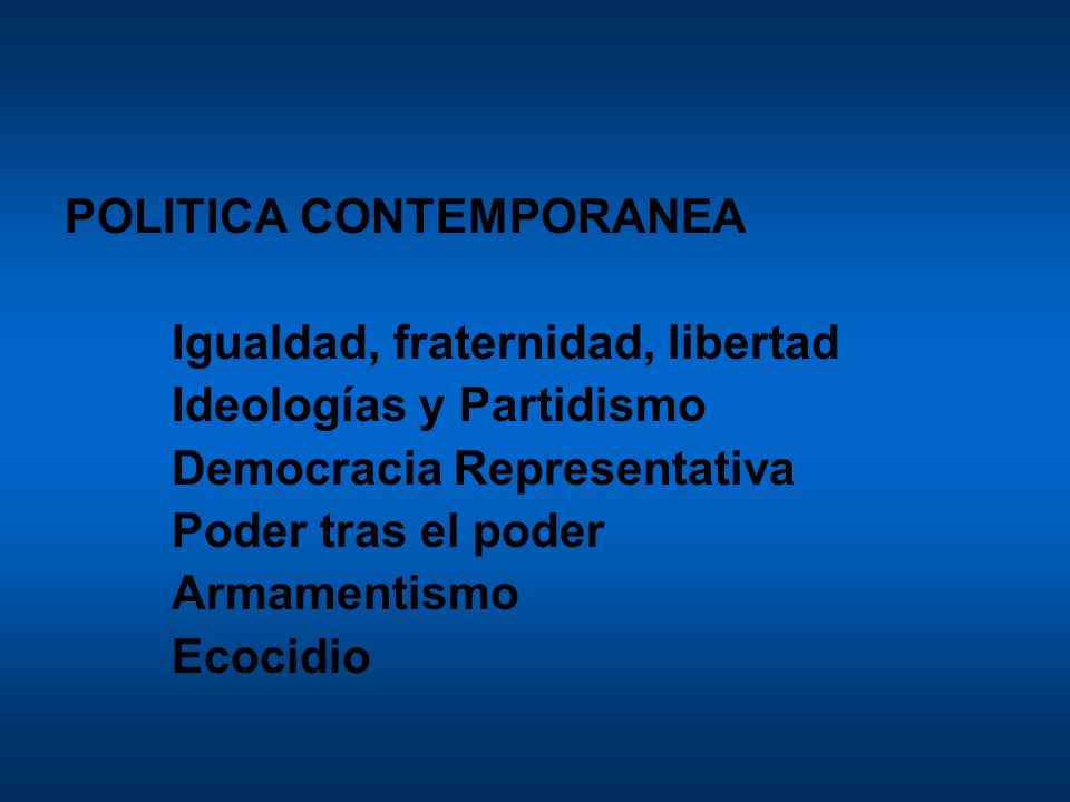 POLITICA CONTEMPORANEA