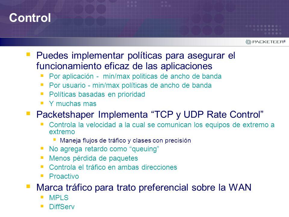 Control Puedes implementar políticas para asegurar el funcionamiento eficaz de las aplicaciones.