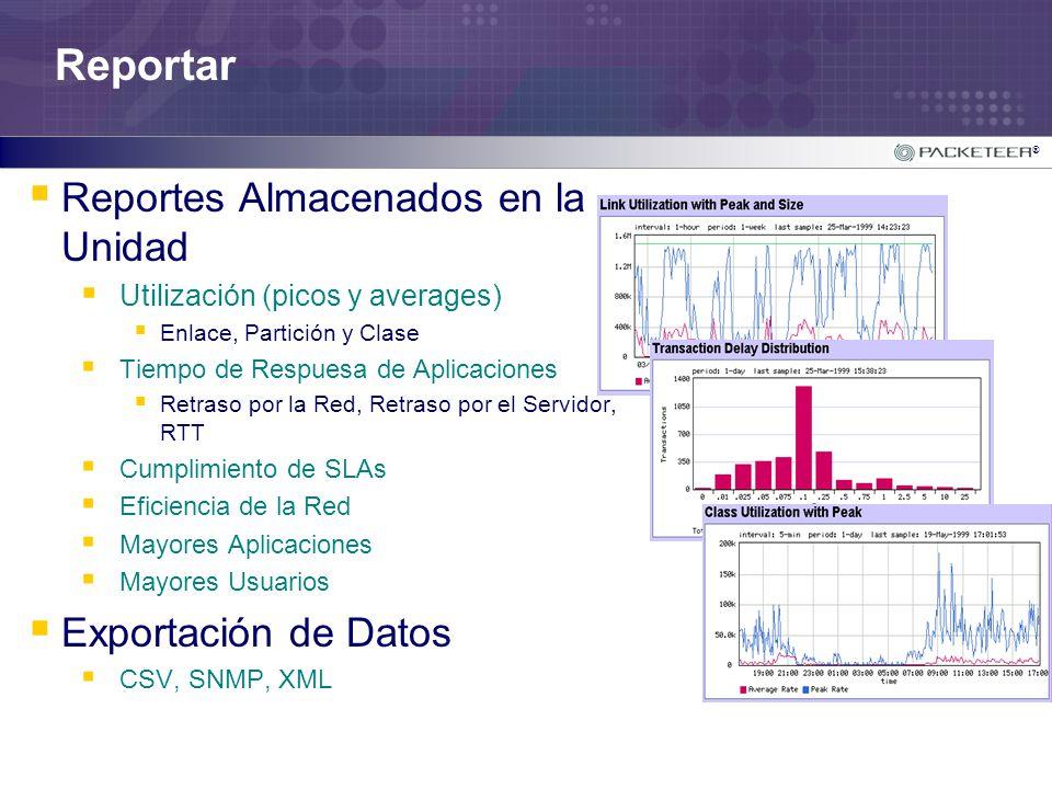 Reportar Reportes Almacenados en la Unidad Exportación de Datos