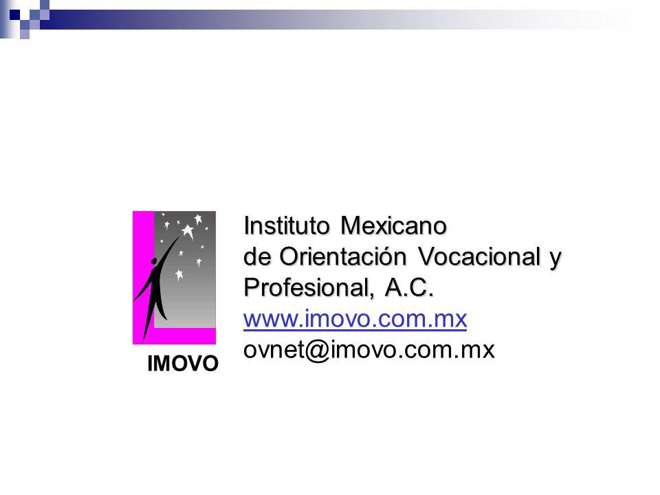 de Orientación Vocacional y Profesional, A.C. www.imovo.com.mx