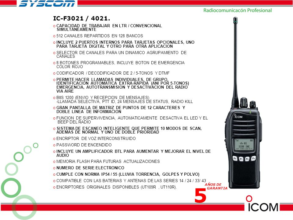 IC-F3021 / 4021. CAPACIDAD DE TRABAJAR EN LTR / CONVENCIONAL SIMULTANEAMENTE. 512 CANALES REPARTIDOS EN 128 BANCOS.