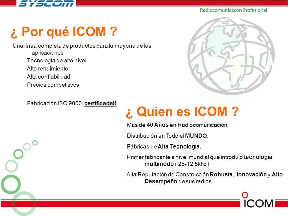 ¿ Por qué ICOM ¿ Quien es ICOM