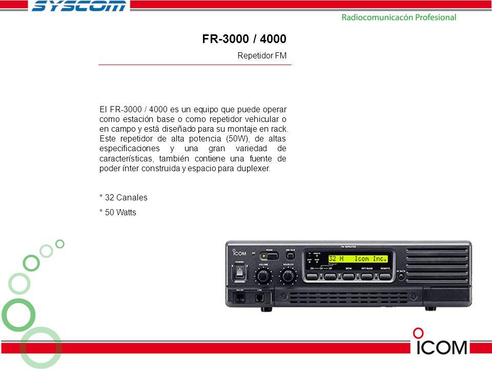 FR-3000 / 4000 Repetidor FM.