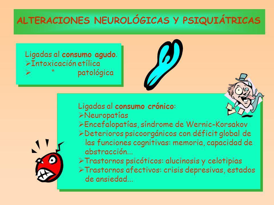 ALTERACIONES NEUROLÓGICAS Y PSIQUIÁTRICAS