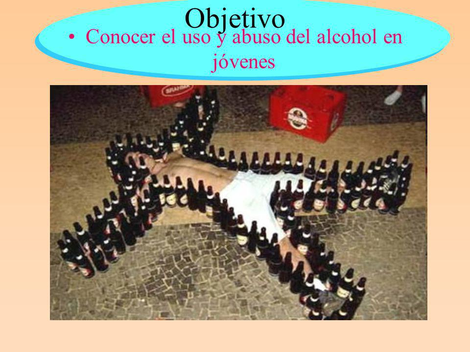 Conocer el uso y abuso del alcohol en jóvenes