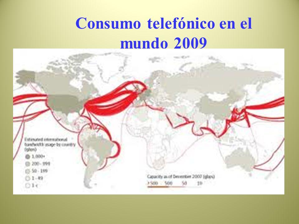 Consumo telefónico en el mundo 2009