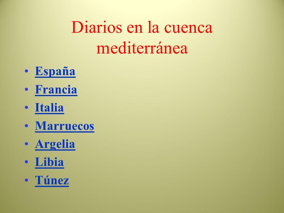 Diarios en la cuenca mediterránea