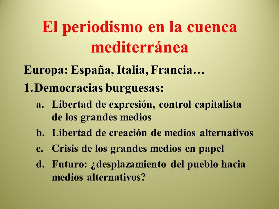 El periodismo en la cuenca mediterránea
