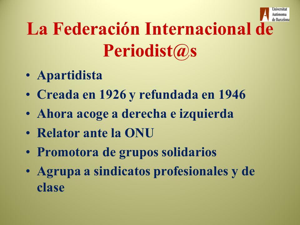 La Federación Internacional de Periodist@s