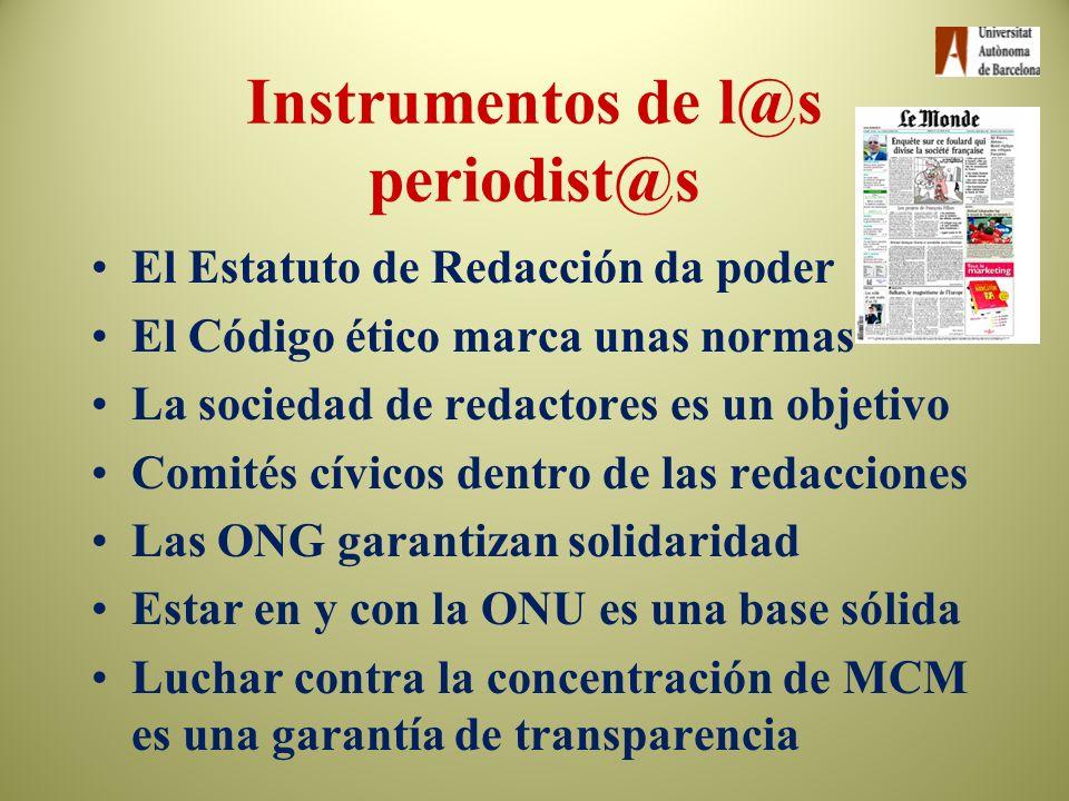 Instrumentos de l@s periodist@s