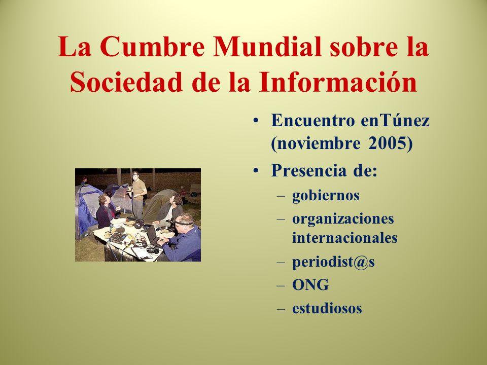 La Cumbre Mundial sobre la Sociedad de la Información