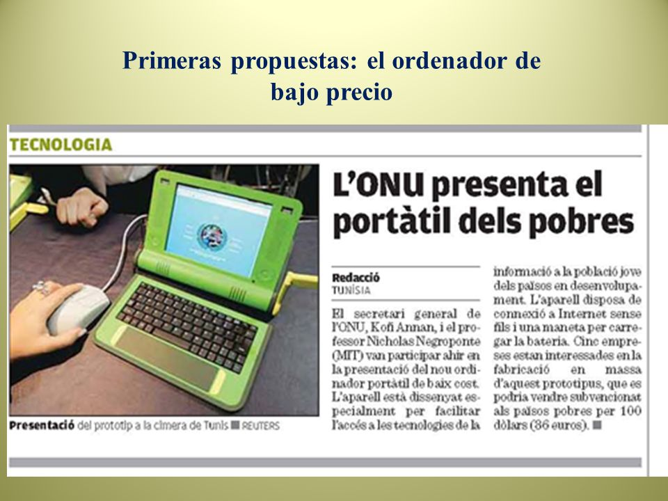 Primeras propuestas: el ordenador de bajo precio