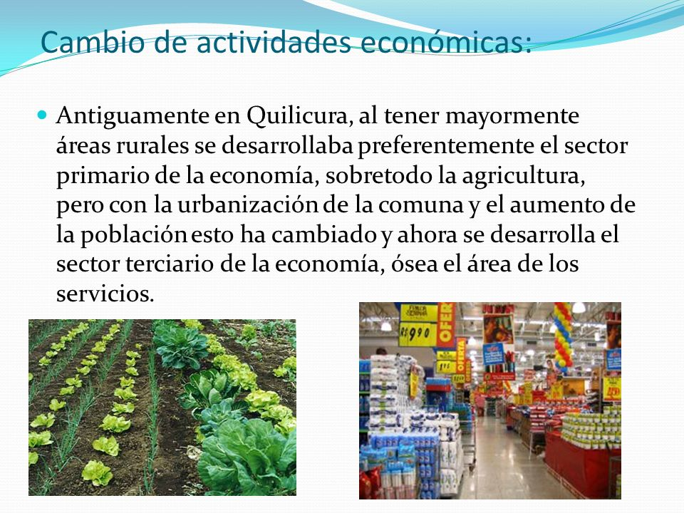 Cambio de actividades económicas: