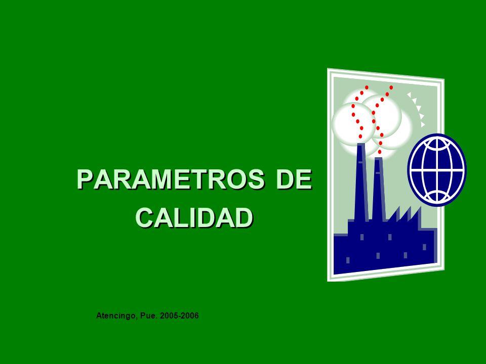 PARAMETROS DE CALIDAD Atencingo, Pue. 2005-2006