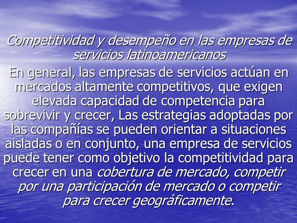 Competitividad y desempeño en las empresas de servicios latinoamericanos