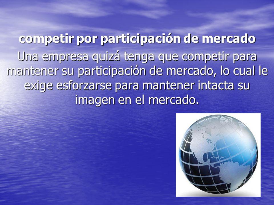 competir por participación de mercado