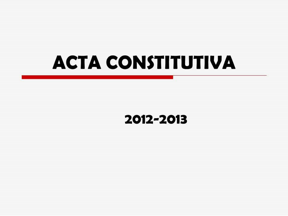 ACTA CONSTITUTIVA 2012-2013