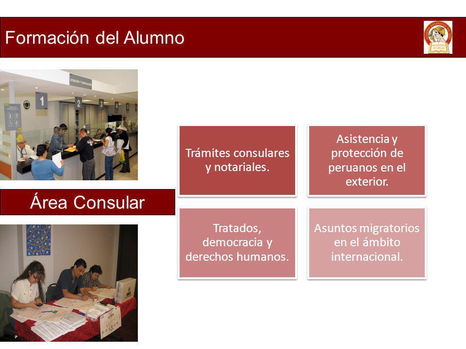 Formación del Alumno Área Consular Trámites consulares y notariales.