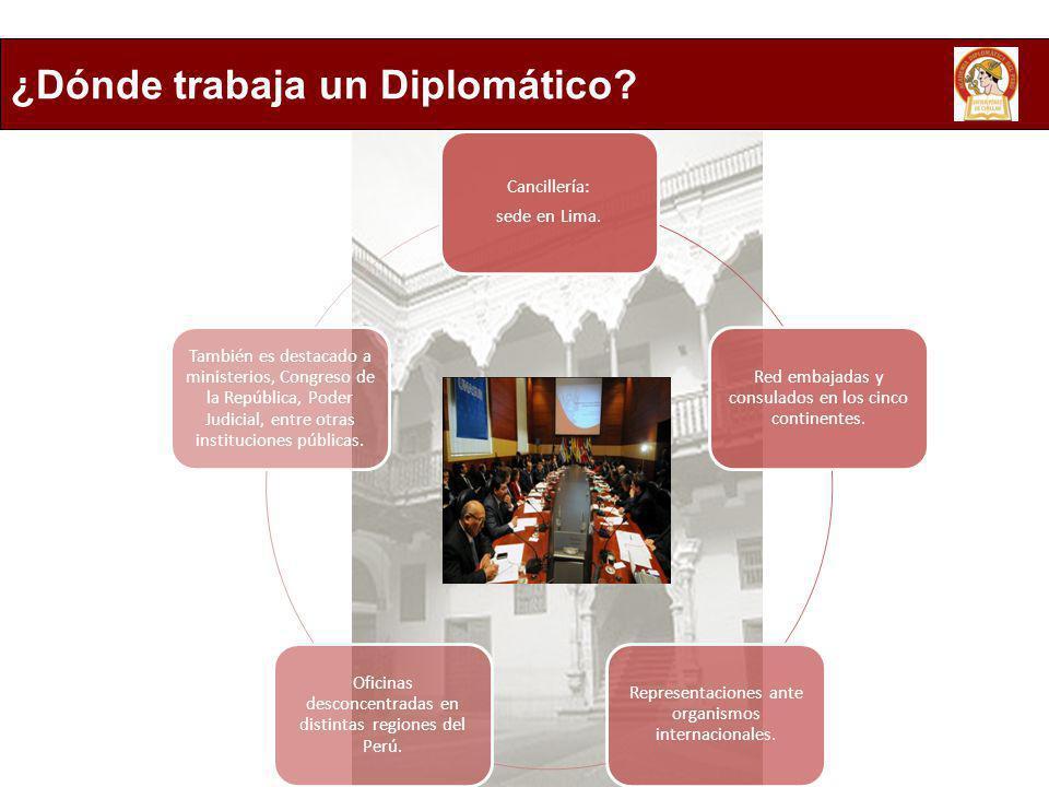 ¿Dónde trabaja un Diplomático
