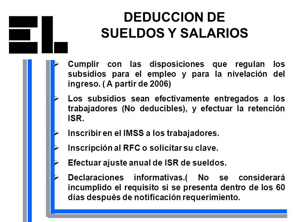 DEDUCCION DE SUELDOS Y SALARIOS