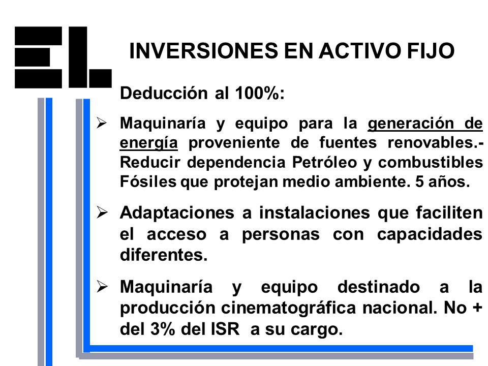INVERSIONES EN ACTIVO FIJO