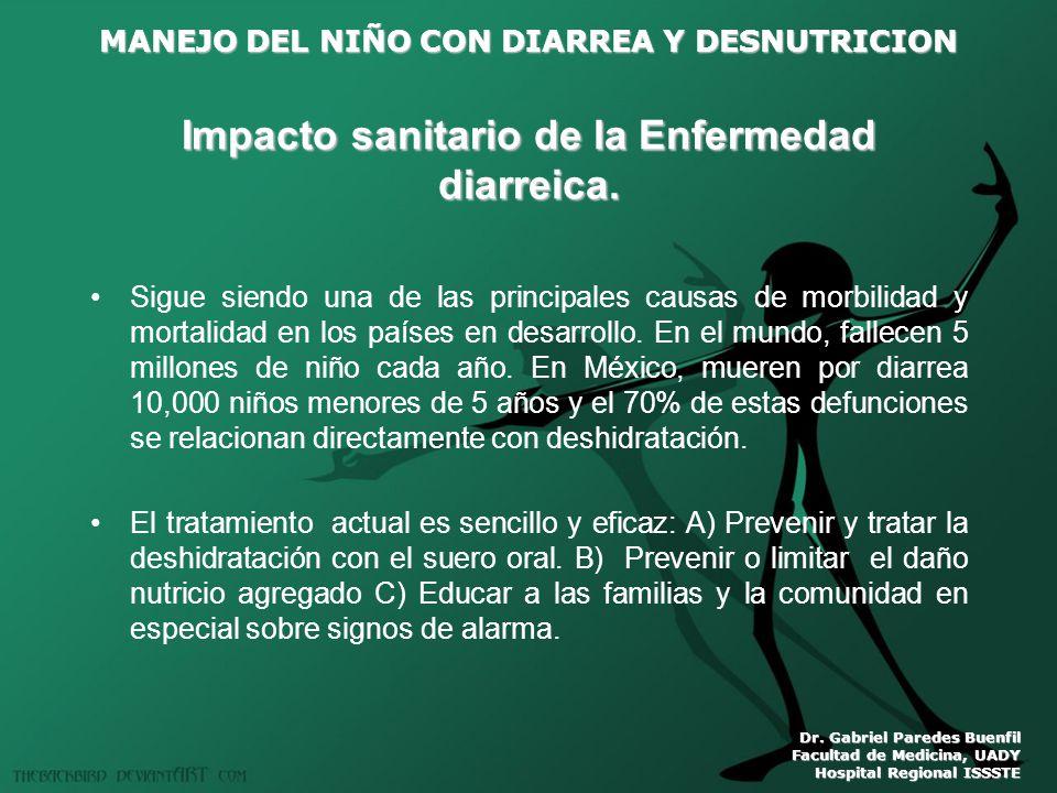 Impacto sanitario de la Enfermedad diarreica.