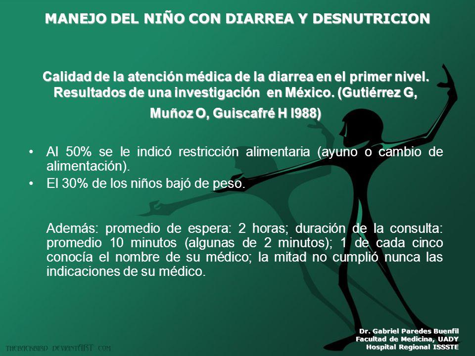 El 30% de los niños bajó de peso.